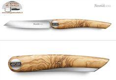 Coltello chiudibile tavola olivo Nesmuk Soul Folding Pocket Knife, Folding Knives, Metal Structure, Knifes, Spade, Chen, Edc, Wood, Adventure