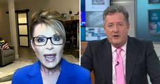 The interview descended into chaos. Piers Morgan, Sarah Palin, Us Election, Donald Trump, Interview, Donald Tramp