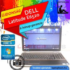 "Dell Latitude E6520 gamer és üzleti laptop, Intel Core i5-2520M, dual vga, 4 GB RAM, 750 GB HDD, 15,6"" HD+ LED kijelző, Windows 7 Pro  Ár: 89 900.- Ft"