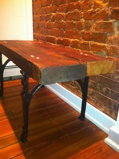 Industrial Reclaimed Wood Coffee Table by WestNinthVintage on Etsy, $200.00