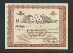Four Aces Mining Co  1907