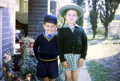 School uniforms in the 70's. Loving the hats!