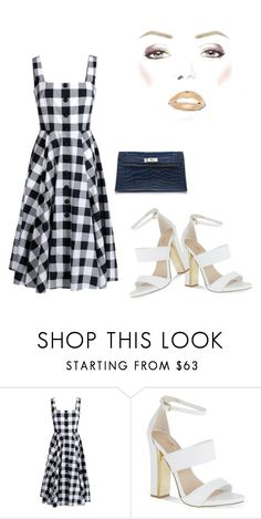 """""""Check Past Midnight"""" by kimberlydalessandro ❤ liked on Polyvore featuring Dolce&Gabbana, Carvela and Hermès"""