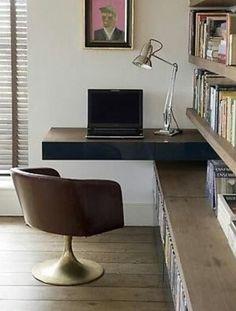 voor in de woonkamer, een fijn plekje voor de computer. zelf, Deco ideeën