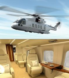 With a price tag of $21 Million and seating capacity of 8, Augusta Westland AW101 VVIP is probably one of the most luxurious helicopters in the world, wouldn't you agree??