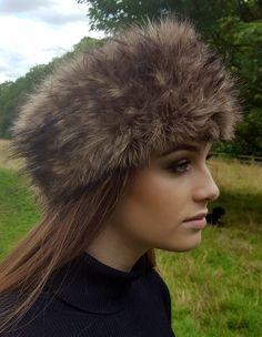 0bc33f62615ac Coyote Faux Fur Headband / Neckwarmer / Earwarmer Handmade in Lancashire  England