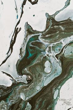 Teal marble