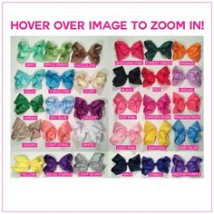 8 inch Basic Bundle Simply Sweet Hair Bows | Bargain Bows boutique hair bows at…