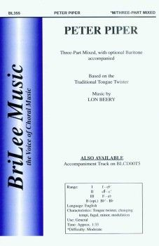 Search Peter piper lon beery | Sheet music at JW Pepper