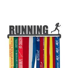 """Wanddeko - Medaillenhalter """"Running"""" 28 cm für F... - ein Designerstück von Medaillenhalter bei DaWanda"""