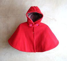 Baby girl Hooded Cape toddler girl polar fleece cape by PABUITA