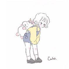 Caho(@chico0811)さん / Twitter Sweet Drawings, Cute Kawaii Drawings, Cartoon Kunst, Cartoon Art, Anime Art Girl, Manga Art, Cute Girl Wallpaper, Cute Anime Chibi, Guache