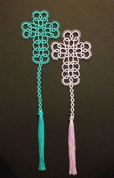 Risultati immagini per tatting by the bay free patterns Crochet Cross, Thread Crochet, Crochet Yarn, Needle Tatting Patterns, Crochet Patterns, Needle Tatting Tutorial, Crochet Bookmarks, Ideias Diy, Cross Patterns