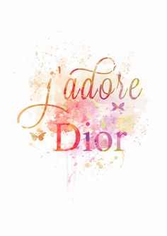 DOWNLOADABLE digital print watercolor: J'Adore Dior by MadamePrint