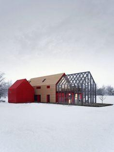 Modernes Wohnhaus im Schnee #moderne #architektur #modernearchitektur