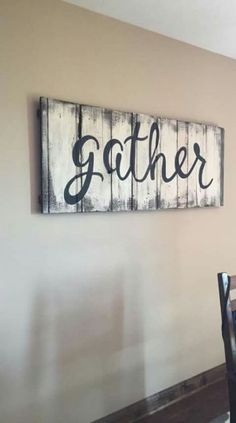 34 Ideas craft painting ideas wooden signs dining rooms - Before After DIY Diy Wooden Projects, Barn Wood Projects, Wooden Board Crafts, Barn Wood Crafts, Rustic Crafts, Art Projects, Diy Wood Signs, Paint Wood Signs, Painting Signs On Wood