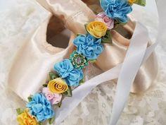Floral Hairpiece Bunpin Bunflowers Lulusballetwraps Sweet Peach Fairy Ballet Bun Wrap Flowercrown Floral garland