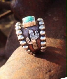 Wedding ring - Change the cactus Cowgirl Bling, Cowgirl Jewelry, Western Jewelry, Cowgirl Style, Cute Jewelry, Jewelry Box, Jewelery, Jewelry Accessories, Jewelry Ideas