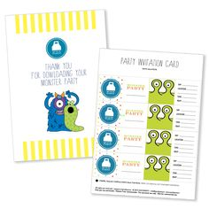 Monster digital party by Quickparty https://www.etsy.com/it/listing/224645182/monster-party-printable-kit?ref=shop_home_active_1