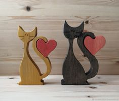 Puzzle cat, cat with a heart - buy or order . - Puzzle cat, cat with a heart – buy or order in the online store at the Fair of Masters Small Wood Projects, Craft Projects For Kids, Fabric Embellishment, Wood Animal, Scroll Saw Patterns, Cat Crafts, Christmas Wood, Wooden Crafts, Wooden Jewelry