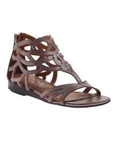 I'M LOVING.  Take a look at this Pewter Ackard Sandal by nicole on #zulily today!