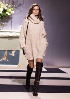Le Fashion Blog Model Andreea Diaconu Cowl Neck Turtleneck Sweater Dress Over The Knee Boots HM FW 2013 Paris photo Le-Fashion-Blog-Model-Andreea-Diaconu-Cowl-Neck-Turtleneck-Sweater-Dress-Over-The-Knee-Boots-HM-FW-2013-Paris.jpg