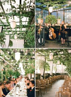 Modern New York wedding by KT Merry - wouldn't a greenhouse be lovely?