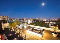 Maravillosa terraza en la última planta del hotel Tivoli Lisboa