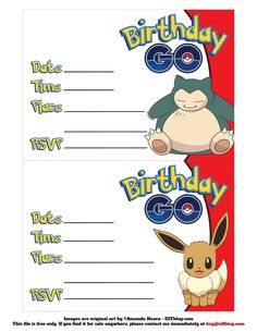 pokémon go birthday go free printable invitations pokemon go
