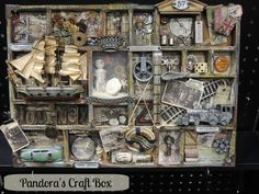 Pandora's Craft Box: Craft and Hobby Association 2013 with Tim Holtz-mixed media-DIY-art-distressed-altered-metal embellishments