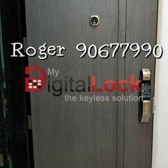 MyDigitalLock selling Samsung Digital Lock for HDB Door and Condo Laminate Door unlock Using Smartphone and WI-FI in Singapore / Bukit Batok / 9161 6282 Digital Lock, Door Locks, Smart Home, Singapore, Wifi, Gate, Locker Storage, Samsung, Doors