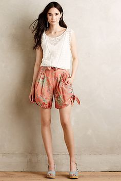 Trussed Tapestry Shorts #anthropologie