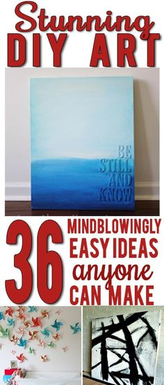 AWESOME roundup of inspiring creative DIY art ideas! SO many good ones!