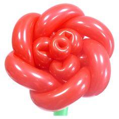 Роза небольшая из воздушных шаров. Видео: https://youtu.be/L6MI6j6oc44 Цветы из воздушных шаров, роза из воздушных шаров, flower from balloons, Rose of balloons