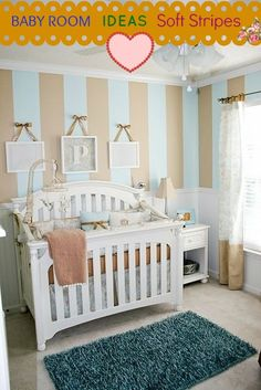 Beige Baby Room Idea With Soft Stripes #love these baby room ideas