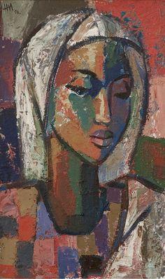 b-sama:African Madonna Hennie Niemann Jnr Abstract Portrait Painting, Portrait Art, Figure Painting, Art Visage, Paintings Famous, Artwork Paintings, Sacred Art, Religious Art, African Art