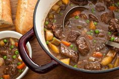 Easy Beef Stew - I did not use wine but used Leinie's Snowdrift Porter instead. Added a sprig of Rosemary too.