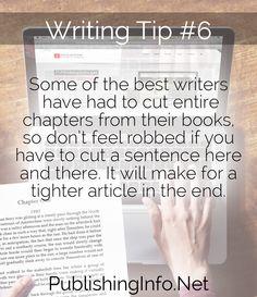 Writing Tip #6 from PublishingInfo.Net