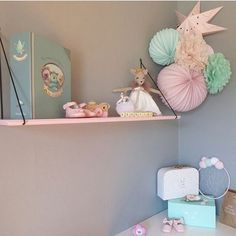 Love all the colours Rose Vintage, Floating Nightstand, Girls Bedroom, All The Colors, To My Daughter, Decoration, Shabby, Girly, Colours
