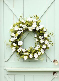 Morning Glory Wreath ~ Summer Wreath ~ Spring Wreath ~ Front Door Wreath ~ Cottage Wreath