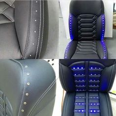 I'm not sure if I'd do *that* many, but a couple of strategically placed ones would be pretty slick for overall interior lighting Car Seat Upholstery, Car Interior Upholstery, Automotive Upholstery, Custom Car Interior, Car Interior Design, Truck Interior, Luxury Interior, Garniture Automobile, Jeep Wrangler
