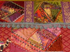 Detail of Crazy Embroidered Quilt | by suziqu