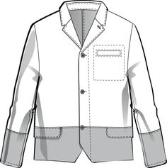 I need to learn how to do this in illustrator.  Mens Flat Fashion Sketch