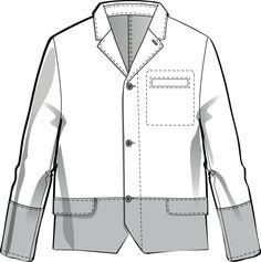 Mens Flat Fashion Sketch