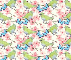 Japanese Garden   fabric by magentarosedesigns on Spoonflower - custom fabric