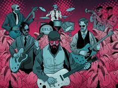 Eels band.    www.mattstevensart.com