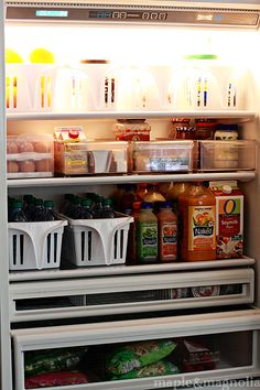 fridge organization intervention - love this but it will only work if no one else is allowed in the fridge