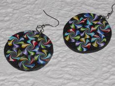 """Ohrhänger - Ohrhänger rund """"Bunte Swirls"""" - ein Designerstück von iCo-Design bei DaWanda"""