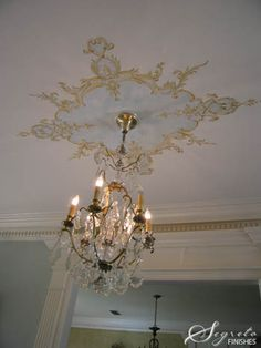 neat idea for the ceiling above the chandelier Ceiling Murals, Floor Ceiling, Wall Murals, Ceiling Lights, Ceiling Rose, Ceiling Ideas, Interior Paint, Interior Decorating, Ceiling Finishes