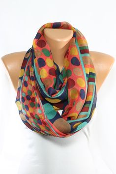 Hey, I found this really awesome Etsy listing at https://www.etsy.com/listing/183606357/new-polka-dot-scarf-multicolor-scarf